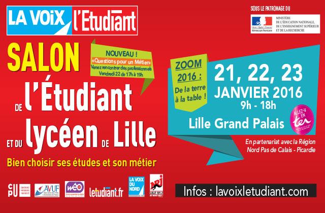 Salon de l 39 tudiant du 21 au 23 janvier 2016 pr pa du for Salon des grandes ecoles lille